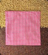 Kirschensteine / Traubenkernkissen Pink kleinkariert 08