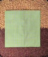 Kirschensteine / Traubenkernkissen Grün kleinkariert 07
