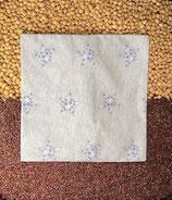 Kirschensteine / Traubenkernkissen graumeliert mit Sternen 06