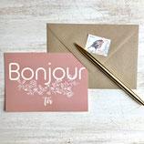 Carte postale BONJOUR