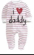 """Baby pyjama """"I love Daddy"""""""