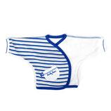 Ducky Beau overslag shirtje wit/blauw streepje