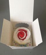 Cupcake in geschenkverpakking