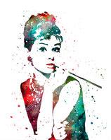 Audrey Hepburn I weiß