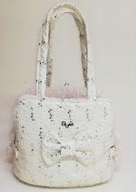Luxy paiettes bag white