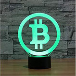 Bitcoin LED-Lampe