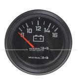 Voltmeter, schwarz, Ø52mm