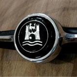 WOB Emblem Hupenknopf schwarz-silber