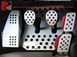 Aluminium Pedal Set incl. Fussstütze gummiert