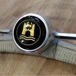 WOB Emblem Hupenknopf schwarz-gold