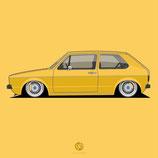 Poster MK1 yellow