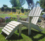 Adirondack Chair with Foot Rest