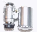 60fach - Minimikroskop mit Lampe und UV