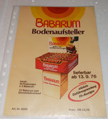 Werbeblatt - Set - BABARUM - 1976