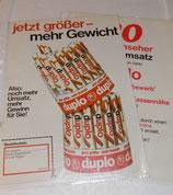 Werbeblatt Set - Duplo 1972