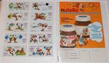 Nutella - 1972 - Goofy Olympiade - Werbeblatt und 10 Abreibebilder