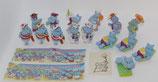 Komplettsatz - Die Happy Hippos auf dem Traumschiff 1992 - mit Varianten