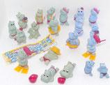 Komplettsatz - Die Happy Hippos 1988 - mit Varianten