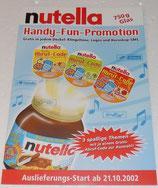 Nutella - Handy-Fun 2002 - Promotion Folder mit allen Inhalten