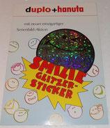 Duplo / hanuta - Werbefolderdiorama Smilie Glitzer Sticker - 1993