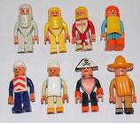 Variable Spielfiguren 1984 - 1986 - Set aus 8 Figuren