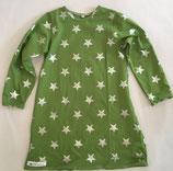 Langarmkleid grün/silber Stern