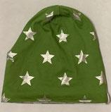 Wendebeanie silvergreen Stars
