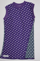 Tunika violet/grey dots