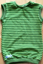 Pullunder oliv/grün gestreift