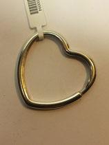 Porta Chaves em Prata - Argola Coração