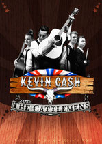 Offizielles Tour -Plakat, Kevin Cash and The Cattlemens!