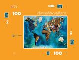 """Puzzle Planisphère SIDHERIA 100 pièces / Promo """"été 2018"""" = réduction exceptionnelle de 16% pour toute commande jusqu'au 1er Septembre 2018"""