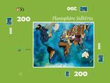 """Puzzle Planisphère SIDHERIA 200 pièces / Promo """"été 2018"""" = réduction exceptionnelle de 16% pour toute commande jusqu'au 1er Septembre 2018"""
