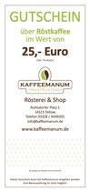 25€ Röstkaffee Gutschein