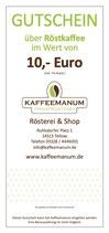 10€ Röstkaffee Gutschein