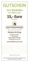 15€ Röstkaffee Gutschein