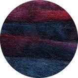 Lontwol blauw/rood/paars herfsttinten