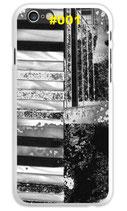 Handy Hard Case Gitarre (schwarz/weiß)