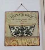 SHABBY TIN PLATE(BATH)