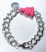 Armband BUDDHA Pink oder Grün in Silber