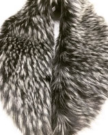 Fake Fur Schal in Grau