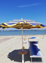1 ombrellone + 1 lettino/sdraio dalla 3 fila
