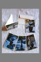 5 Klappkarten Set 1, mit Bild C6 (110mm x 155mm)