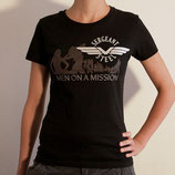 "Girlie shirt - ""Men On A Mission"""