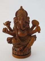 Ganesha met rat bruin klein