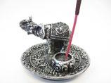 WIerookhouder Olifant zilver