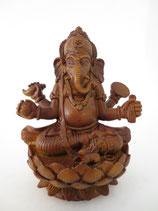 Ganesha op lotus bruin