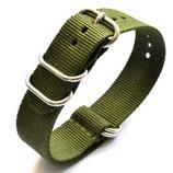 22mm ZULU Armband Nylon grün (ZULU01-22mm)