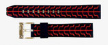 20mm VOSTOK Armband SPORT aus Silikon, schwarz / rot