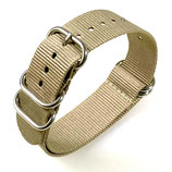 22mm ZULU Armband Nylon khaki (ZULU04-22mm)
